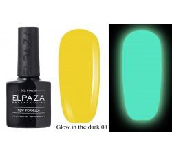 Гель-лак Elpaza Glow Neon Collection неоновая серия светится в темноте при ультрофиолете 01