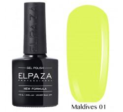 Гель-лак Elpaza Neon Collection неоновая серия 10мл MALDIVES 01неоновые