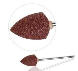 Насадка Фреза Бор Головка сводчатая шлифовальная для педикюра полимерная ГСв-12,5 коричневая фрезы