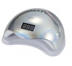 Лампа для гель лака и геля гибридная UV/LED Sun5 48 Вт с ЖК дисплеем Серебро зеркальная Mirror Silver