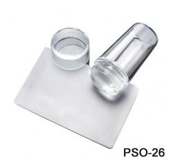 Штамп - линза для стемпинга прозрачный с карточкой-скрапером