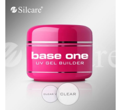 Гель для наращивания Silcare Base One Clear прозрачный 15гр