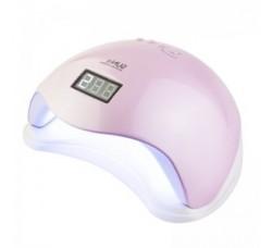 Лампа для гель лака и геля гибридная UV/LED Sun5 48 Вт с ЖК дисплеем Розовая