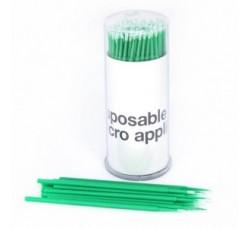 Микробраши для снятия накладных ресниц зеленые