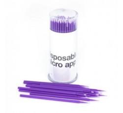 Микробраши для снятия накладных ресниц фиолетовые