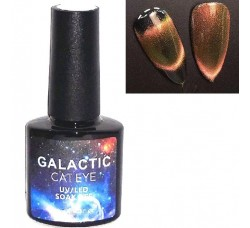 Бронзово-красный гель-лак кошачий глаз Galactic Cat eyes №06 (GCe-06)