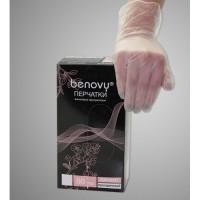 Перчатки виниловые Benovy Vinyl прозрачные 100шт размер L