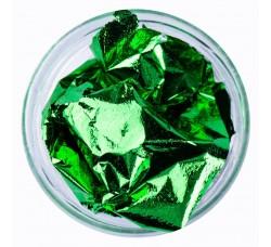 Сусальная фольга (поталь) зеленая в баночке,