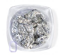 Сусальная фольга (поталь) серебро в баночке