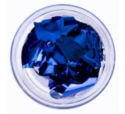 Сусальная фольга (поталь) синяя в баночке