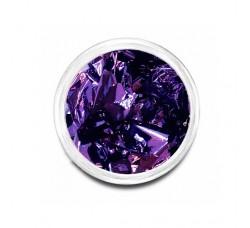 Сусальная фольга (поталь) фиолетовая  в баночке