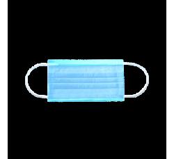 Маски трехслойная на резинках 50 шт голубые маска для лица