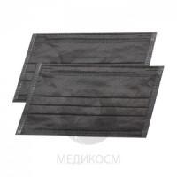 Маски трехслойные черные 50 шт маска для лица