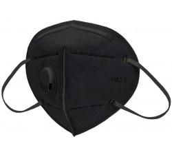 Маска противовирусная 6-ти слойные с угольным фильтром черные маска для лица