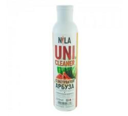 Жидкость Nila для снятия ШЕЛЛАКА и гель-лака uni cleaner 250 мл Арбуз