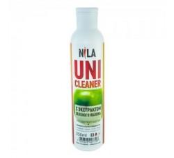 Жидкость Nila для снятия ШЕЛЛАКА и гель-лака uni cleaner 250 мл Зеленое Яблоко