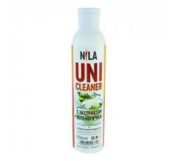 Жидкость Nila для снятия ШЕЛЛАКА и гель-лака uni cleaner 250 мл Зеленый чай