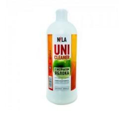 Жидкость Nila для снятия ШЕЛЛАКА и гель-лака uni cleaner 1000 мл (1 литр) Яблоко