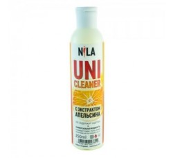 Жидкость Nila для снятия ШЕЛЛАКА и гель-лака uni cleaner 250 мл Апельсин