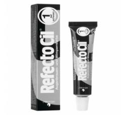 RefectoCil Pure Black №1 — Краска для окрашивания бровей и ресниц (глубокий черный) 15 мл